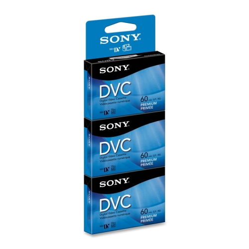 Sony 60-Minute MiniDV Tapes, 3-Pack