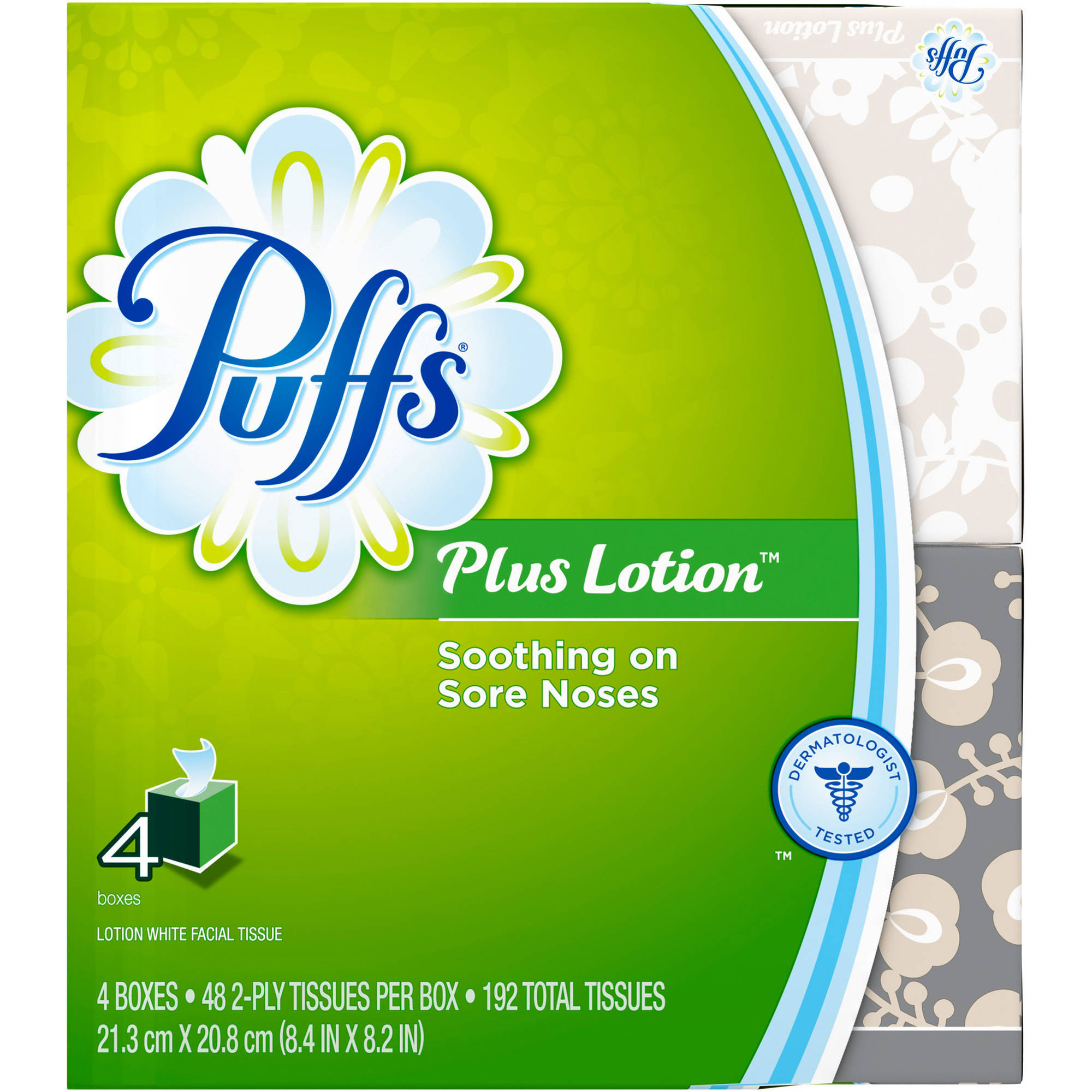 Puffs Ultra Soft & Strong Facial Tissues, 6 boxes, 124 tissues per box