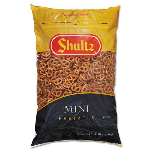 SHULTZ 827575 Mini Pretzels, Original, 6-lb Bag by Shultz