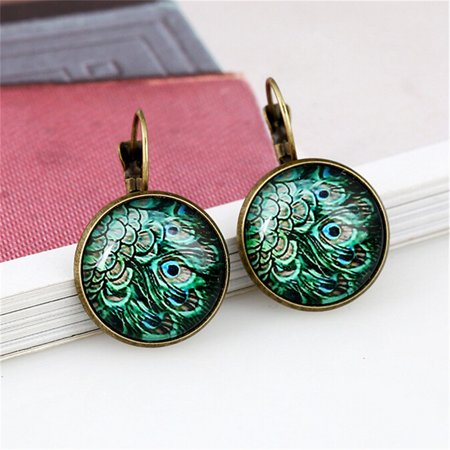 AIHOME Paired Exquisite and Retro Time Jewel Earrings Fashion Multiple Patterns Earrings - image 3 de 6