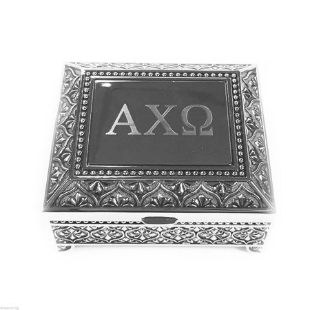 Alpha Chi Omega Vintage Footed Jewelry/Pin Box