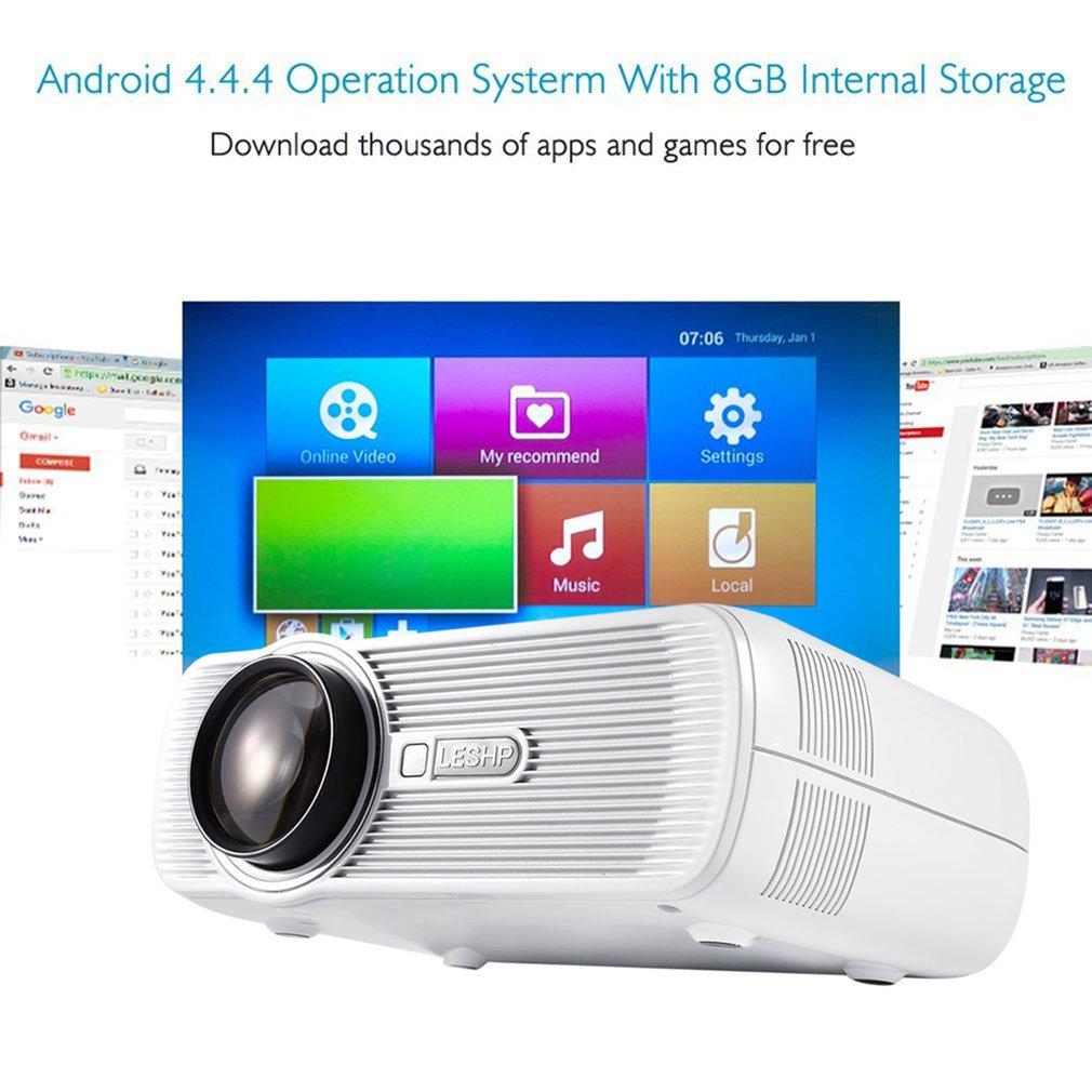 WIFI 1200 Lumens Full HD 1080P Portable Mini Projector LCD LED Projector Home Theater, AV/HDMI/VGA