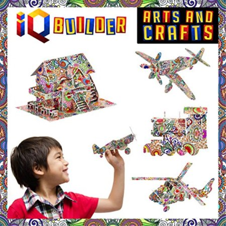 IQ BUILDER FUN CREATIVE DIY ARTS AND CRAFTS KIT | BEST TOY GIFT FOR GIRLS AND BOYS AGE 8 9 10 11 12 YEAR OLD | EDUCATIONAL ART