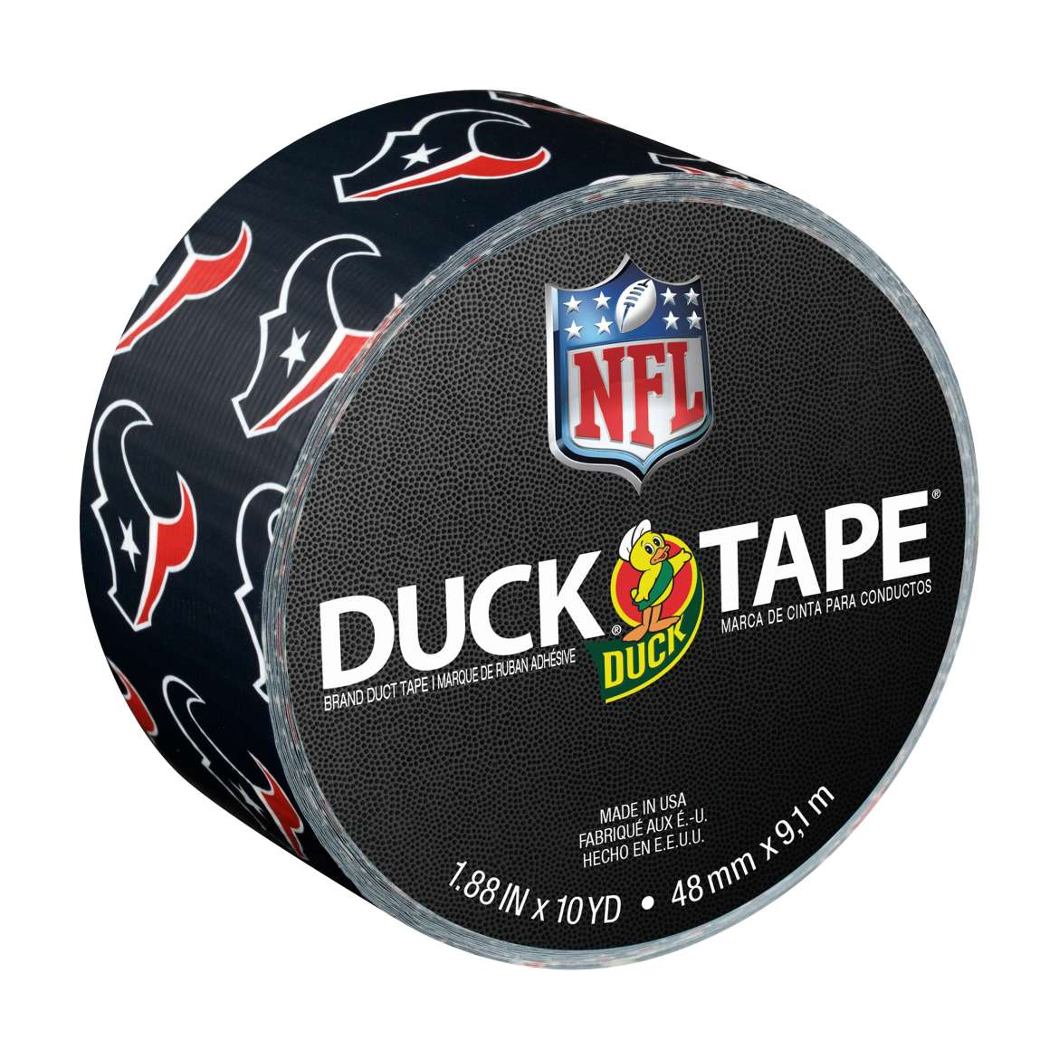"Duck Brand Duct Tape, NFL Duck Tape, 1.88"" x 10 yard, Houston Texans"