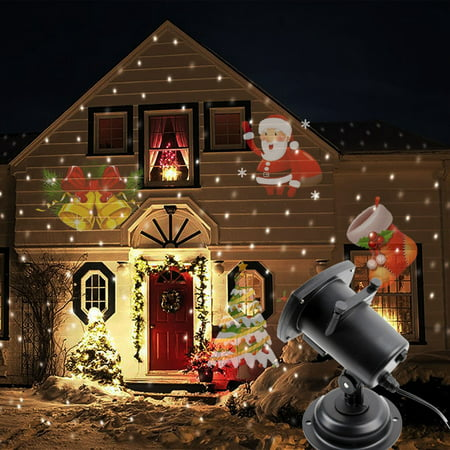 Halloween Projector Light with Remote Control,12 Pattern Switchable Waterproof Sparkling Landscape Projection Light for Christmas Halloween Wall Decoration, Christmas, Birthday Party](Halloween Projection)
