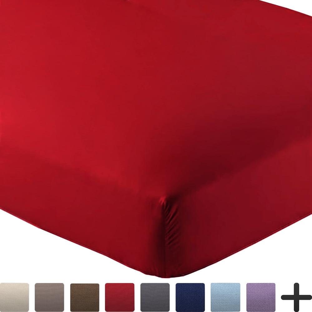 "2 Queen Fitted Premium Bed Sheets (2-Pack) - Ultra-Soft, Hypoallergenic, Queen, 15"" Deep Pocket, 60"" x 80"" (Queen - 2 Pack, Black)"