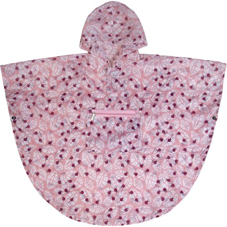 Lady Bug Pink Poncho (4-7)