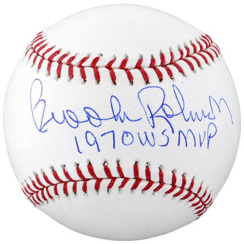 Brooks Robinson Baltimore Orioles Autographed Baseball with 1970 WS MVP Inscription