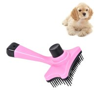 Elite Multi-functional Plastic Grooming Comb Cut Tangles Tool Pet Brushes - Pink