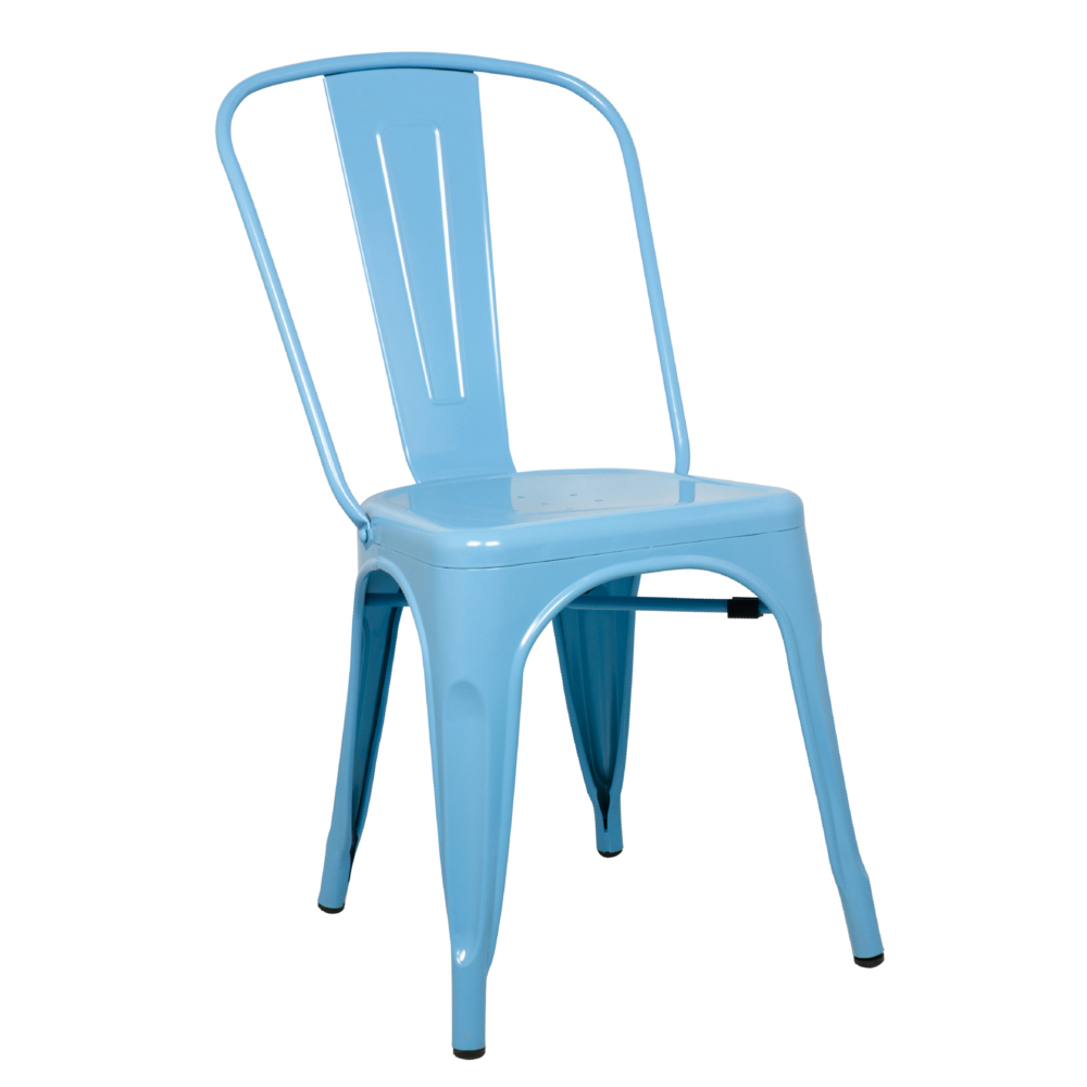 Fine Mod Imports Talix Chair-Color:Blue,Finish:Galvanized Steel,Style:Contemporary/Modern