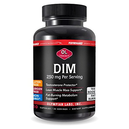 DIM 250mg Supports Lean Muscle Mass & Provides Balanced Testosterone 30 (Caps Testosterone)