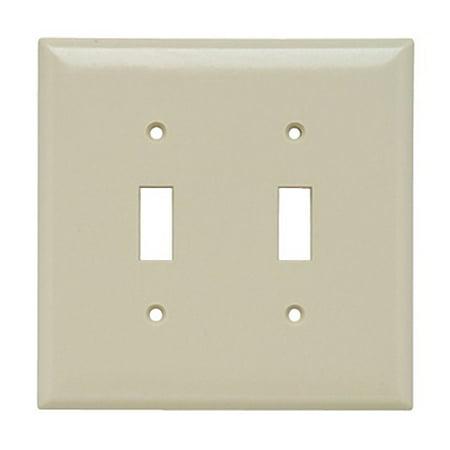 Pass & Seymour Ivory Jumbo 2-Gang Toggle Switch Cover Plastic Wallplate SPO2-I