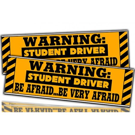 """Zento Deals 2 Packs of """"Warning: Student Driver"""" All-Weather Reflective Magnetic Sign Student Driver Warning Decal for all type of Cars ()"""