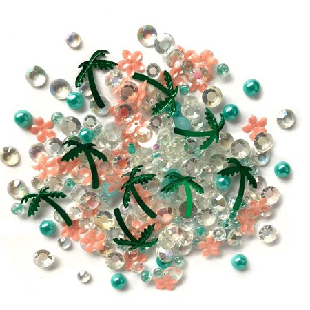 Buttons Galore Sparkling Gemstone Craft Embellishments 500 Pc - Paradise - Set of 3 Packs