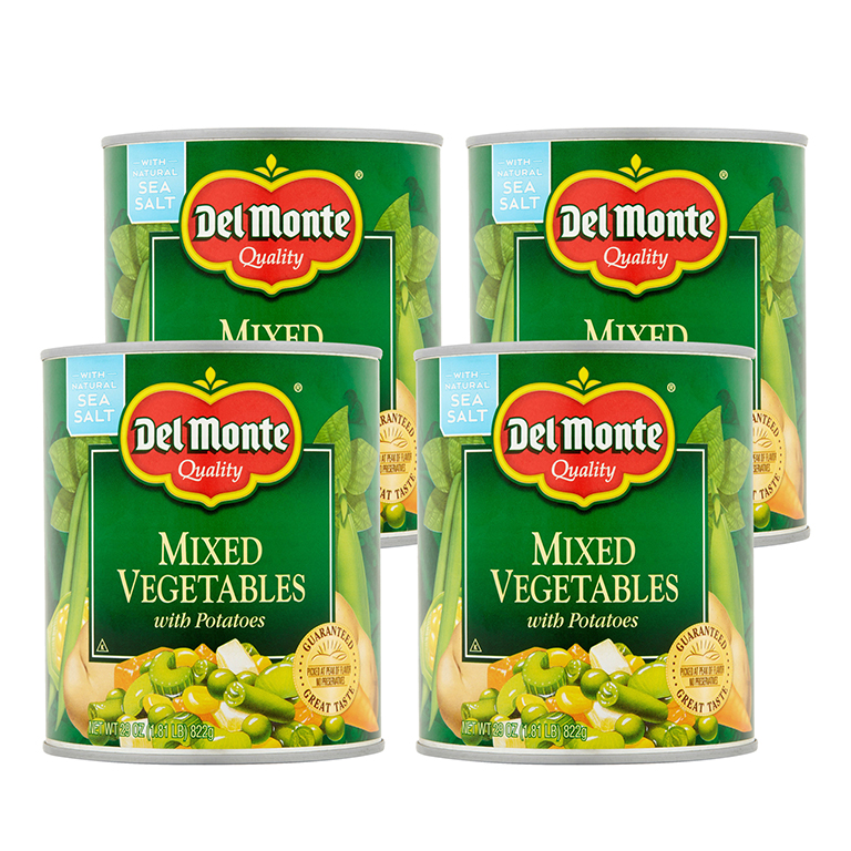 Del Monte Mixed Vegetables With Potatoes, 29 Oz (4 Packs)