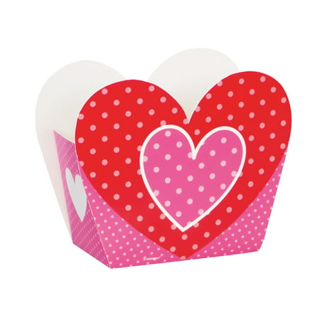 Heart Valentine's Day Favor Boxes, 8ct - Valentine Day Box Ideas