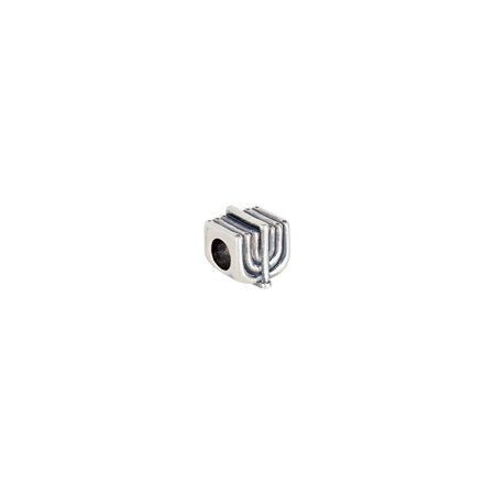 Sterling Silver 9.5mm Menorah Slider Bead (Weight: 4.37grams)