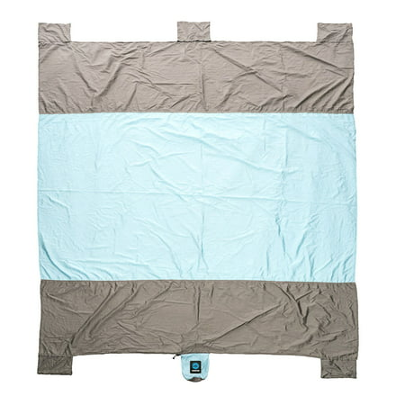 Wildhorn Sand Escape Large 9' x 7' Lightweight Nylon Picnic Throw Beach Blanket](Beach Mat)