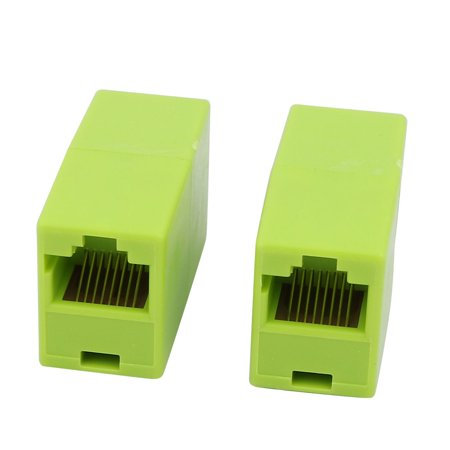 - Plastic RJ11 8P4C Female to Female Telephone Ethernet Connector Coupler 5Pcs