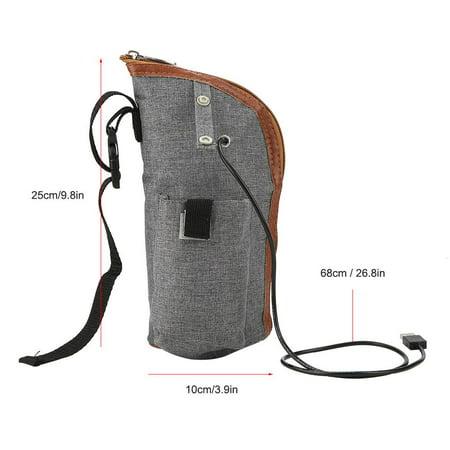 Yosoo Milk Warmer Bottle Heater Feeding Bottle Infant Storage Bag USB  Heating Portable Travel Mug Bottle Heated Cover