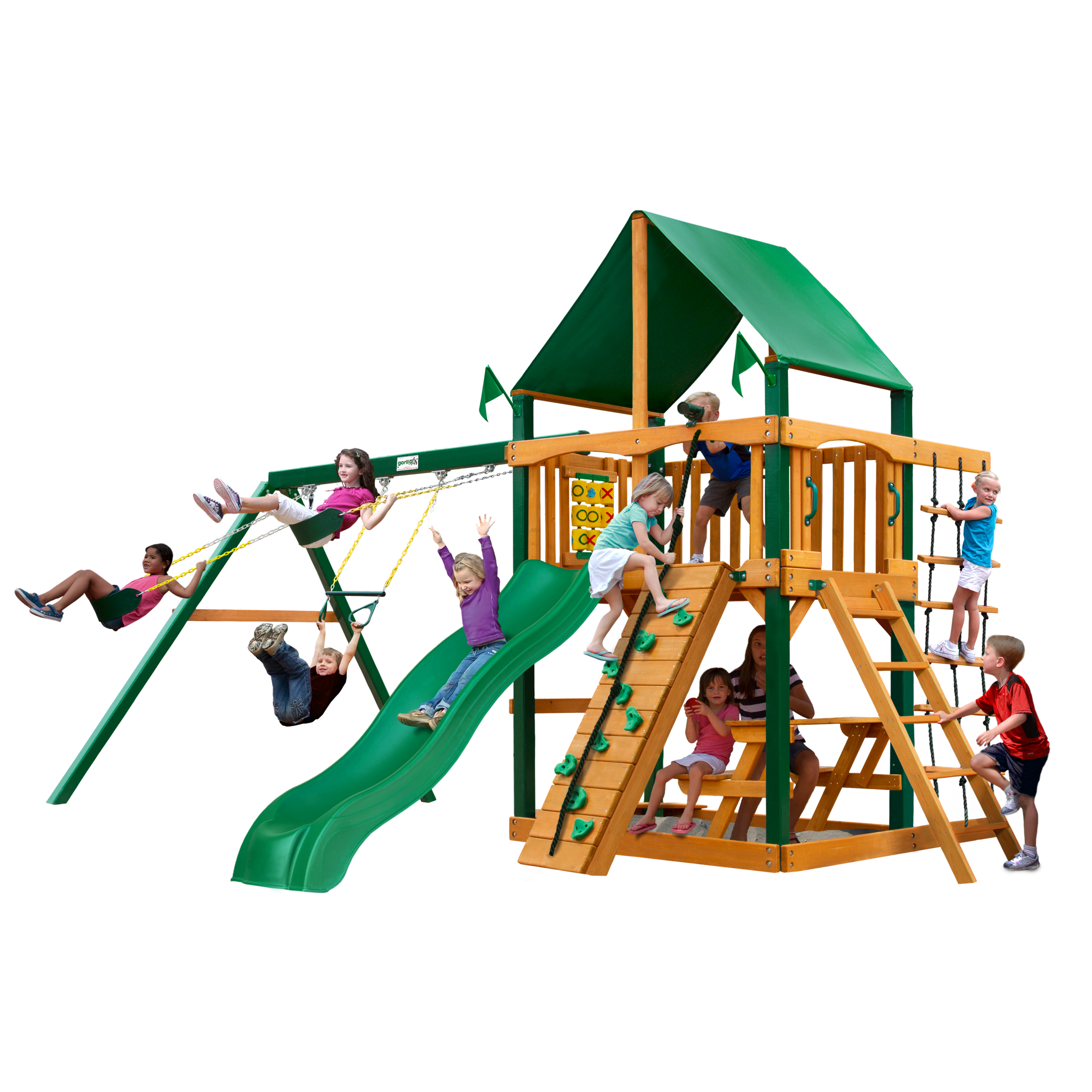 Gorilla Playsets Chateau Cedar Swing Set With Timber Shiled™ Posts Photo