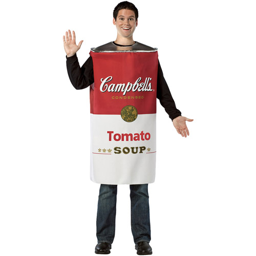 Campbell Tomato Soup Adult Halloween Costume - One Size