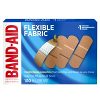 Band-Aid Brand Flexible Fabric Adhesive Bandages, One Size, 100 ct