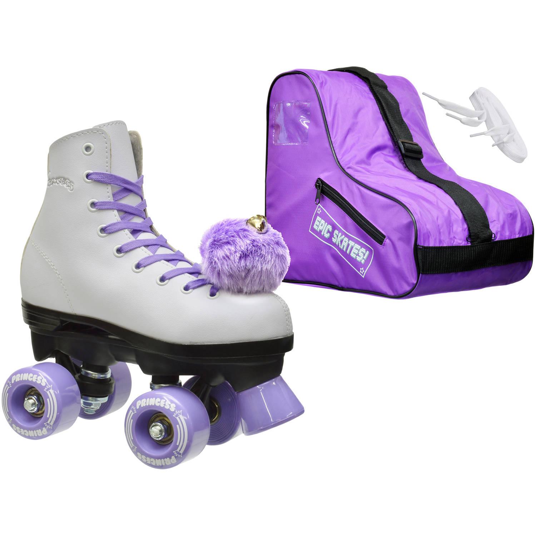 Epic Skates Epic Purple Princess Quad Roller Skates Package