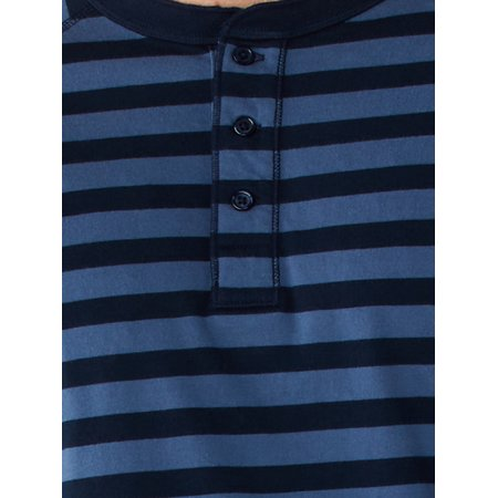 Free Assembly Men's Everyday Long-Sleeve Striped Henley Shirt