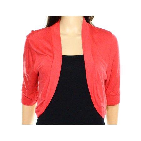 ee7826719d Eliza J - Eliza J NEW Coral Orange Women s Size XL Open-Front Shrug Sweater  - Walmart.com