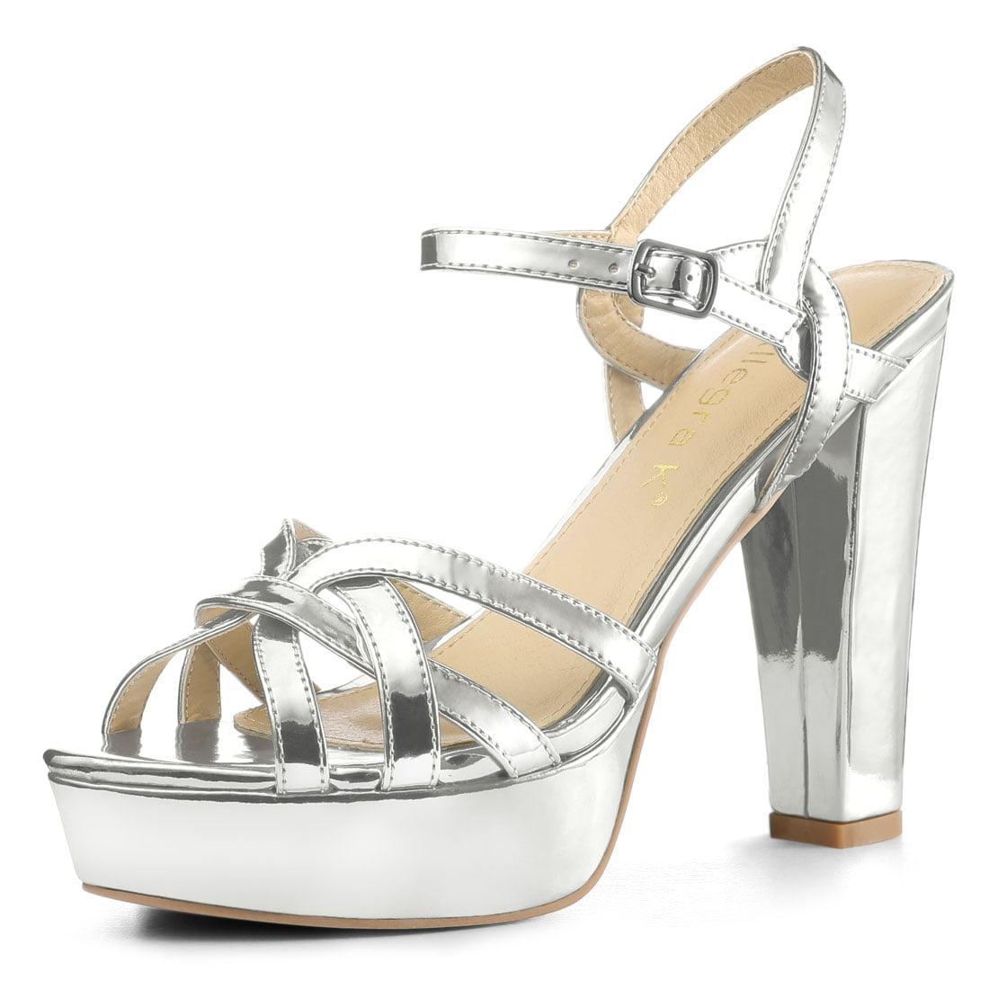 Women's Slingback Metallic Block Heel