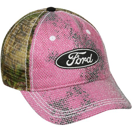 Women's Ford Mesh Back Cap, Realtree Xtra Green Camo, Adjustable (Camouflage Pro Mesh Cap)