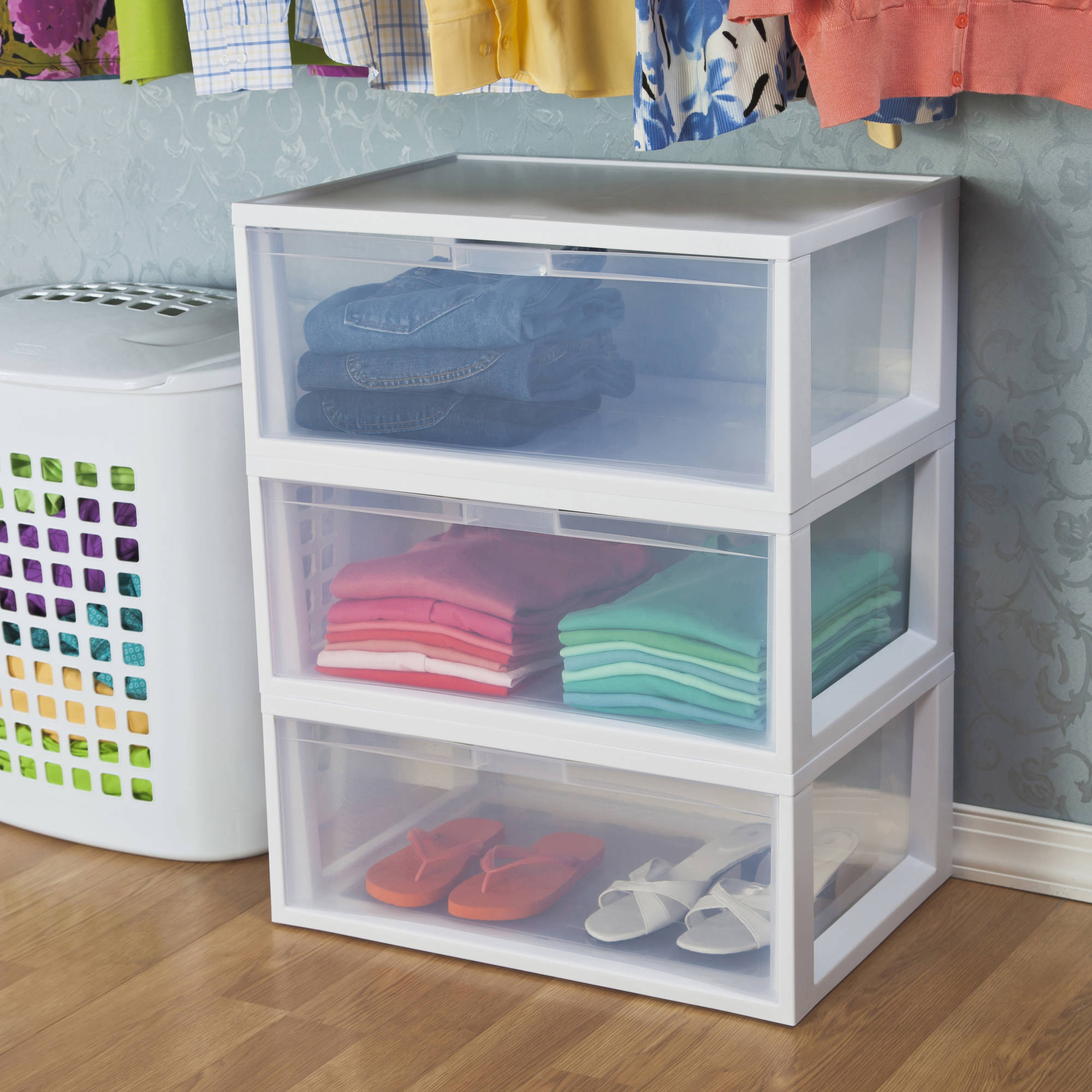 Sterilite Large Tall Modular Drawers- White (Available in Case of 3 or Single Unit)