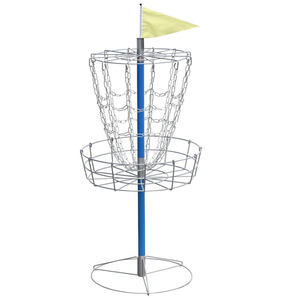 Yaheetech Disc Golf Goal Basket Practice Frisbee Game Target Cross Chain Outdoor Metallic