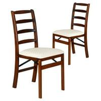 Shaker Ladder Back Hardwood folding chair - Fruitwood
