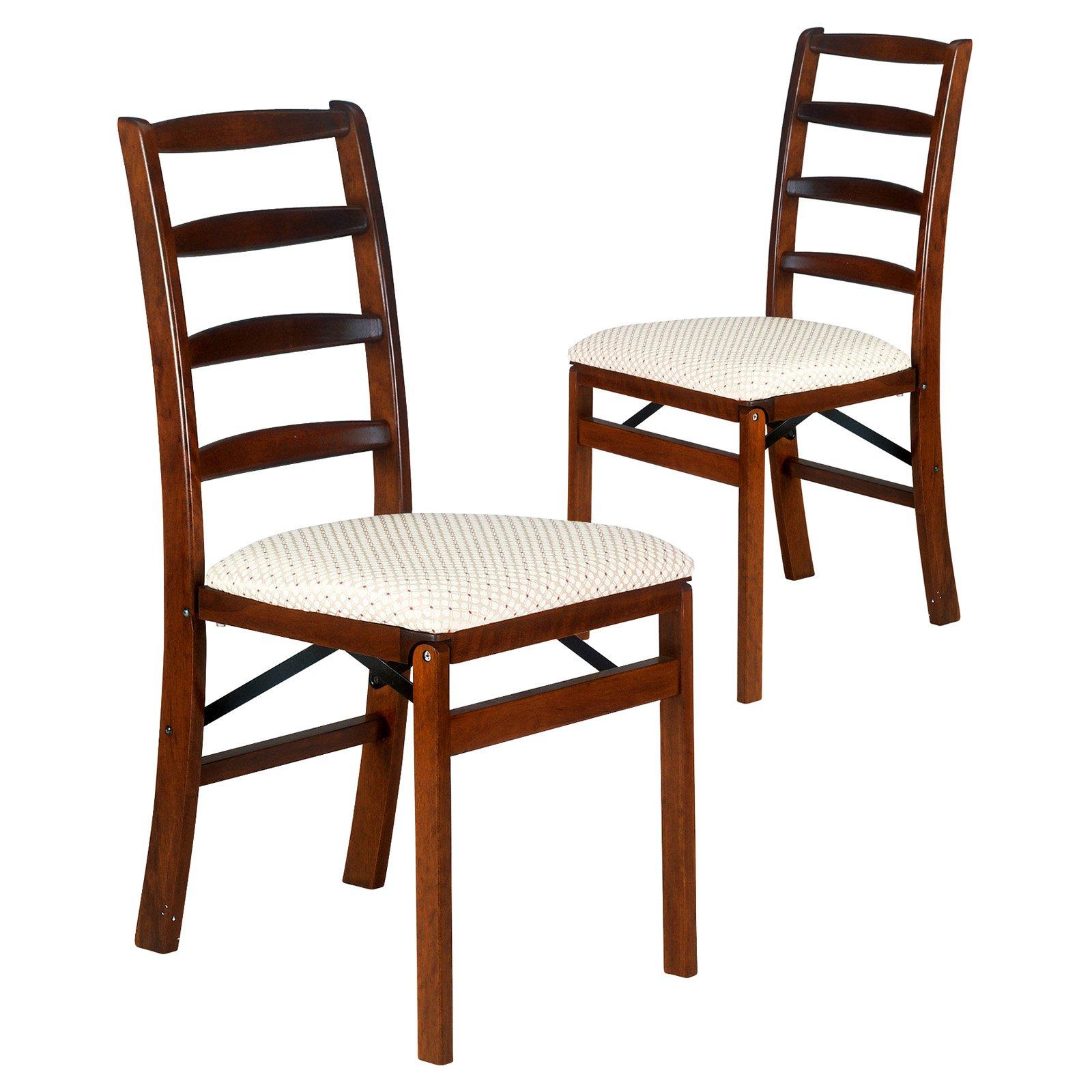 Shaker Ladder Back Hardwood folding chair - Light Cherry