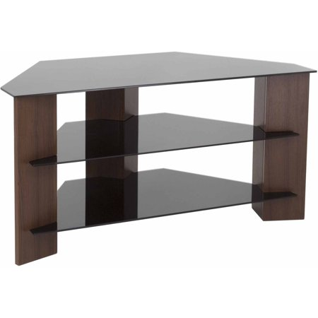 AVF Varano TV Stand with Black Glass Shelves for TVs up to 42″ in Multiple Colors
