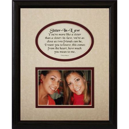 Picture Pottery (8X10 Sister-In-Law Picture & Poetry Photo Gift Frame ~ Cream/Burgundy Mat With Black Frame ~ Heartfelt Gift Keepsake Frame For A Sister In Law)