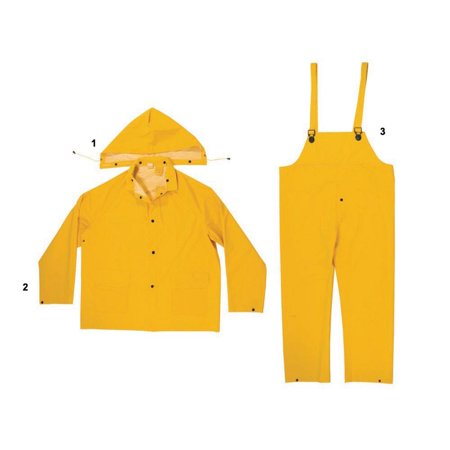 - Enguard 3pc yellow rain suit - 2 pack
