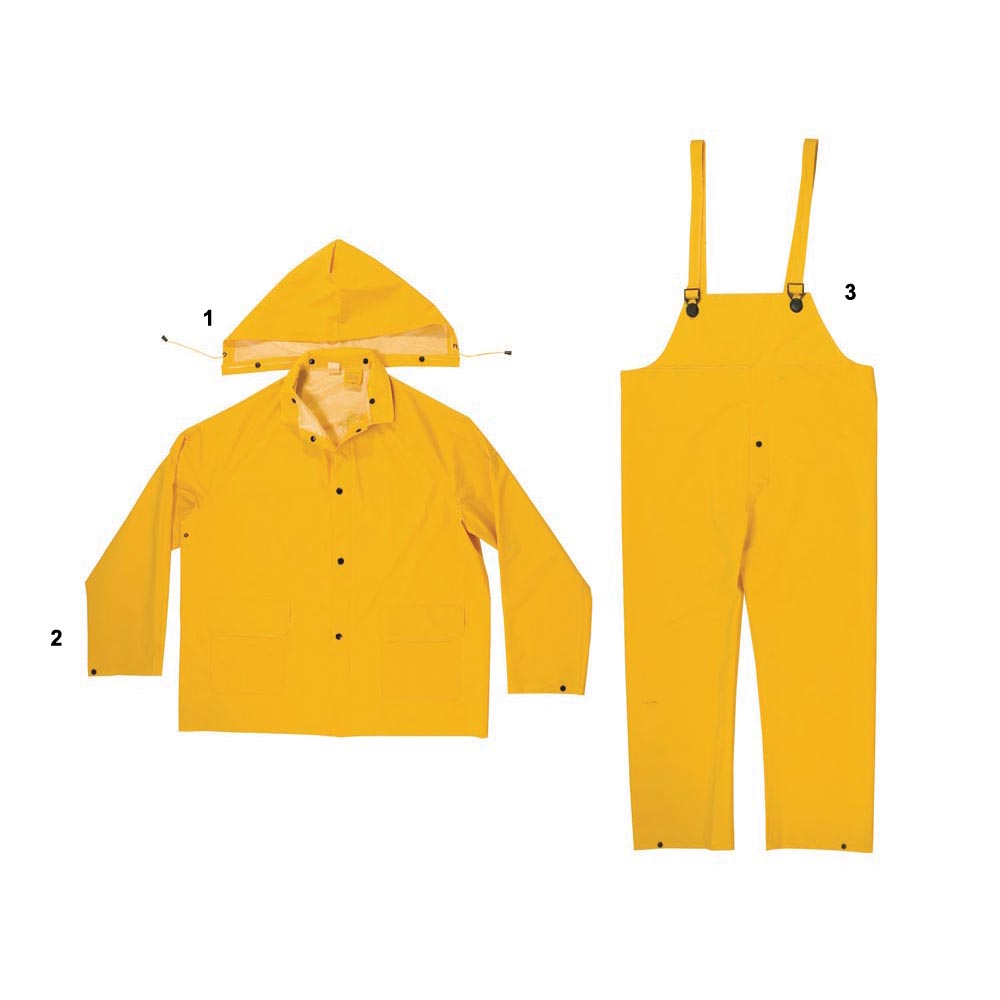 Enguard 3pc Yellow Rain Suits, 4XL 2 Pack by Supplier Generic