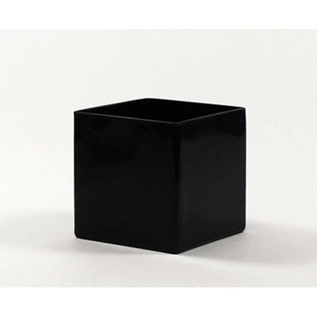5 Bulk Black Square Vase Set Of 12 Walmart
