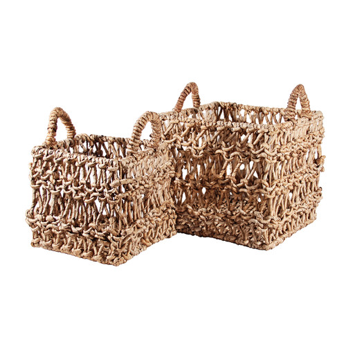 Ibolili 2 Piece Wicker Basket Set