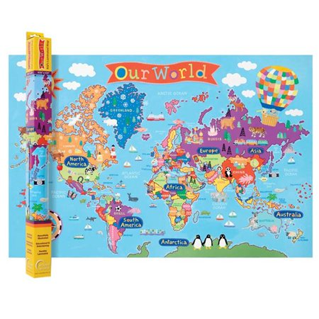 Map Of Canada Kids.World Map For Kids Pack Of 2 Walmart Canada