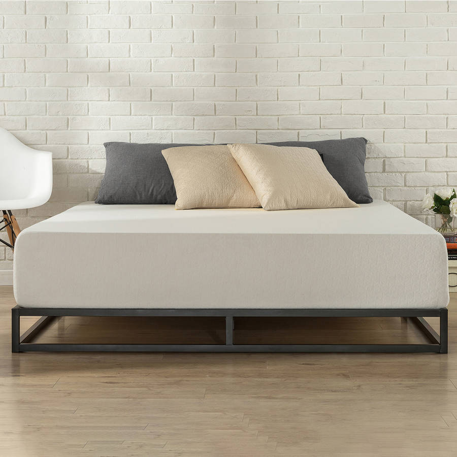 low profile bed frame zinus platforma low profile 6 quot bed frame walmart 29604