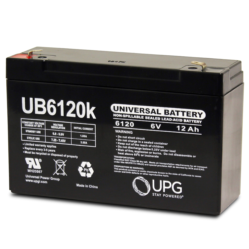 Gruber Power GPS-6-12, GPS12-6S 6V 12Ah UPS Battery - This is an AJC Brand® Replacement