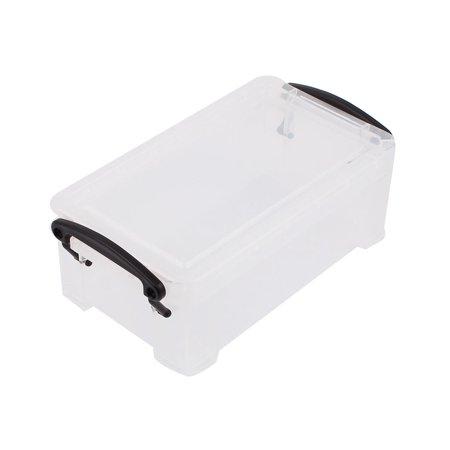 Unique Bargains Plastic Practical Storage Box Case Container Organizer Clear Black