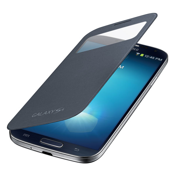 Samsung Galaxy S 4 S-View Flip Cover, Black