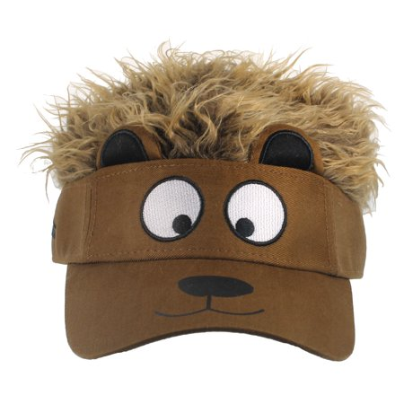 BROWN BEAR FACE VISOR - Brownish Flair Hair - COSTUME - Ric Flair Costumes