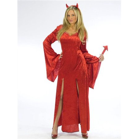 Makeup For A Devil At Halloween (Sultry Devil Women's Adult Halloween Costume, One Size, S/M)