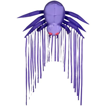 6' Door Archway Airblown Purple Spider Halloween - Halloween Spider